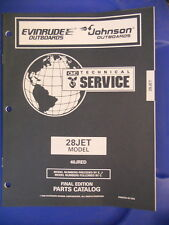 Omc Evinrude Johnson Outboards Parts Catalog 28 Jet Model