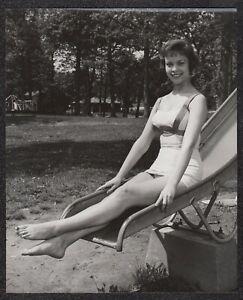 LQQK 8X10 vintage 1950s original, DELIGHTFUL SWIMSUIT GIRL NEXT DOOR #75