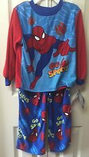 SpiderMan Boys Pajamas Size 4T Long Sleeve And Pants Toddler by Marvel