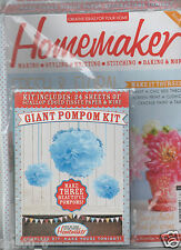 HOMEMAKER MAGAZINE - ISSUE 16 -MARCH 2014  NEW SEALED WITH GIFT-GIANT POMPOM KIT