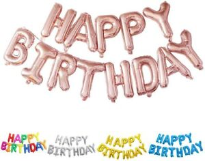 Alphabet 16-inch Letters foil Balloons Happy Birthday Party Decoration + Ribbon