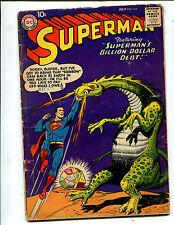 SUPERMAN #114 SUPERMAN'S BILLION DOLLAR DEBT! (4.0) 1957