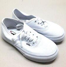 Vans Kids Classic White Canvas Skate Shoes Size 12.0