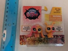 Littlest Pet Shop #1 Apricotta Bunny #2 Firefly Pink/Orange Rainbow Pets MOC