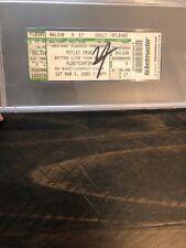 Autographed Vince Neil Motley Crue concert ticket 2005 fleetcenter PSA slabbed