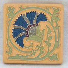 4x4 Arts & Crafts Carnation Tile in Teal by Arts & Craftsman Tileworks