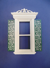 Dollhouse Miniature 1:12 Scale Victorian window shutters 1 pair