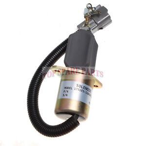 Fuel solenoid 1751ES-12A3UC12B1S Fit for Hyundai Excavator R60-5 Yanmar engine