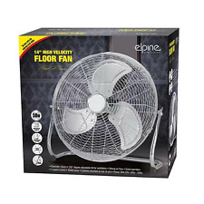 "14"" Chrome High Velocity Electric Cooling Fan 3 Speed Free Standing Gym Fan New"