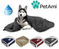 100%WATERPROOF Dog Blanket for Large Dog Pet Reversible Microfiber Fleece Sherpa