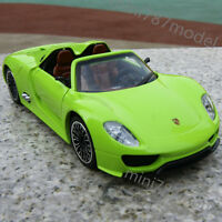 Porsche 918 Spyder Green New 1:32 Model Cars Collection & Gifts Alloy Diecast