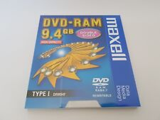 MAXELL DVD-RAM 9.4GB Double Sided  High Capacity TYPE I DRM94F