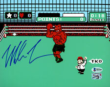 MIKE TYSON AUTHENTIC AUTOGRAPHED SIGNED 8X10 PHOTO PUNCH-OUT BECKETT 155782