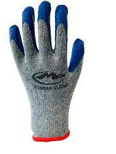 10pairs Knit Work Gloves Cotton Textured Rubber Latex Coated For Construction Bl