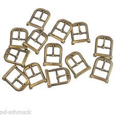 30 Metall Schnallen Ersatzschnalle Buckles für Taschen Schuhen Bronze 22x18mm