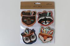 Animal Card Gift Tags pack of 12 4 different animals Tribal Sass And Belle