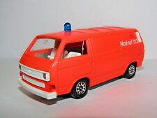 SCHABAK VW TRANSPORTER NOTRUF 112 FIRE VEHICLE 1/43