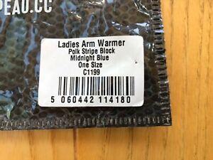 Chapeau Unisex Custom Arm Warmers Size Small Blue/White Blue Multi