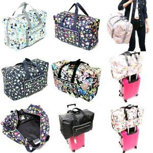 Printed Foldable Travel Bag Women Hand Large Shoulder Duffle Bag  Polyester Soft