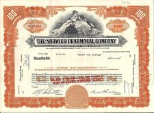Norwich Pharmacal Company stock certificate 100 shares. State of Illinois