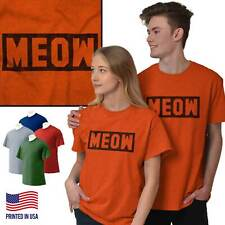 Meow Cat Cute Kitten Lover Adorable Funny T-Shirts T Shirts Tees For Womens
