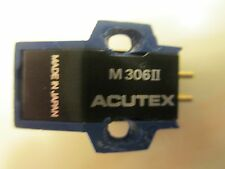 ACUTEX M306II CARTRIDGE AND NEW AFTER MARKET STYLUS IN PLASTIC DISPLAY CASE