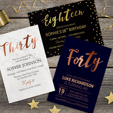 18th 21st 30th 40th 50th 60th Birthday Invitations Personalised Party Invites