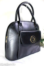 Vintage Celine Black Leather Small Alma Tote Hand Bag