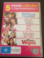 "5 Movies ""The Devil Wears Prada, 27 Dresses, Marley & Me, 500 Days Of Summer"""