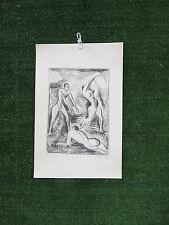 Mathilde ZIEGLER ( 1902- ?) Original Signed B/W Print c.1960