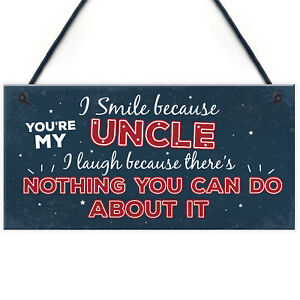Funny Uncle Birthday Gifts Presents Hanging Plaque Keepsake Christmas Uncle Gift