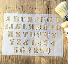 Stencil Alfabeto, Numeri Stencil, Lettere & Numeri Stencil, Mobili Stencil