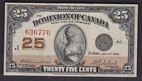 1923 Dominion of Canada Twenty Five Cents - S/N: 636776 (Cat#24-d)