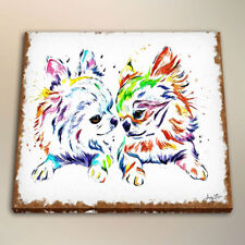 HD Canvas Print Kids Room Art Decor Watercolor Painting Chihuahua Friends 24x32