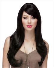 Classic Cap women Synthetic Straight Long Jet Black full wig HengFeng LHL08