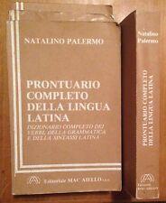 """Natalino Palermo """"Prontuario completo della Lingua Latina"""" 1988 Ed Mac Aiello"""