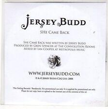 (EO781) Jersey Budd, She Came Back - 2008 DJ CD