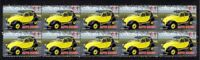 CITROEN 2CV AUTO ICONS STRIP OF 10 MINT VIGNETTE STAMPS 1