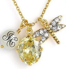 JUICY COUTURE LOVE STORY DRAGONFLY CLUSTER NECKLACE $78