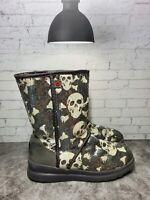 UGG Australia Womens Black Short Skull Bones Sequin I Heart Boots Size 9