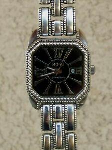 """Ecclissi Solid Sterling Silver Bracelet Watch Date Window 7"""" UNISEX New Battery"""