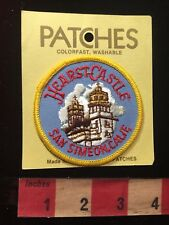 Vtg Holms Patches HEARST CASTLE (w/Hearst Price Tag-back) California Patch 81D7