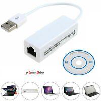 USB 2.0 to Ethernet RJ45 Internet LAN 10/100Mbps Network Converter Adapter Cable