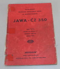 Catalogue de pieces detachees Jawa CZ 350 Typ 354/03 Stand 1956