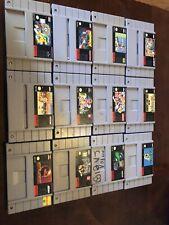 Super nintendo snes games lot of 12 - Super Mario, Mortal Kombat, Street Fighter