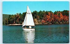 Stone Valley Recreation Area State University Sailing Pennsylvania Postcard B06
