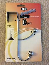 Olipsis Hangables Decorative Hook-Over the Door Double Hook-Polished Chrome-NEW