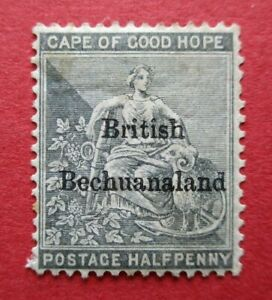SG4 1885 British Bechuanaland Overprint on Cape of Good Hope 0.5d Grey Used