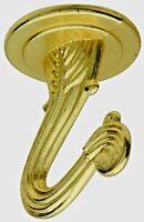 Lot of 5 Brass Ceiling Swag Hooks, National Hardware 249599 V154 1-1/2 Bb N249-5