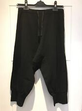 Vince Black Stretch Harem Pants Pockets Cropped Tie Waist S Small New NWT